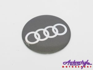 Audi Metal Wheel Decal Set-0