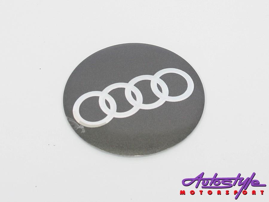Audi Metal Wheel Decal Set