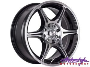 "15"" A-Line Senza 4/100 & 4/108 BKMF Alloy Wheels-0"