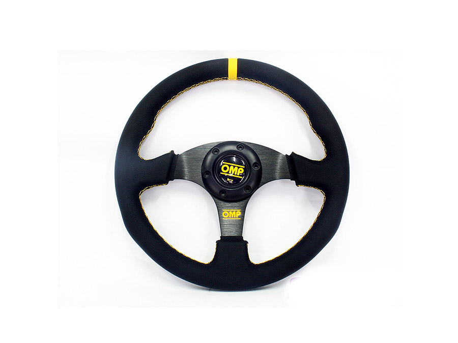OMP Yellow Leather sport steering wheel