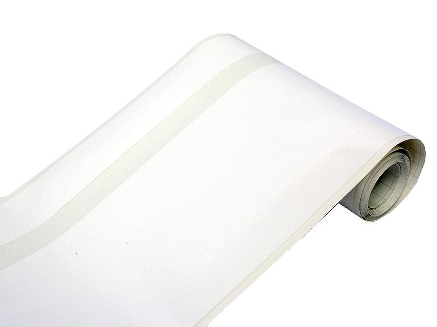 White Vinyl Racing Stripe Kit 20cm x 4.5m