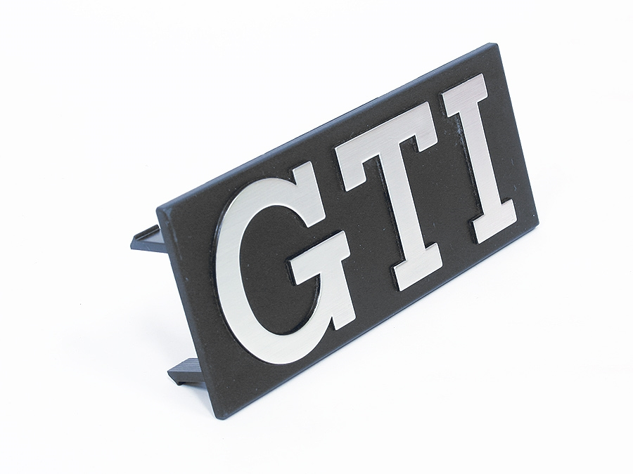 VW Gti Silver Grille Badge