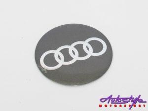 Audi Metal Wheel Decal Set-0