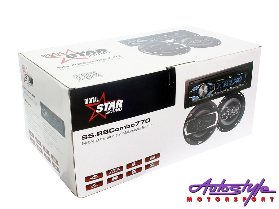 "Starsound Mp3 Radio with 6x9"" Speakers & 6"" Midrange Combo-27215"
