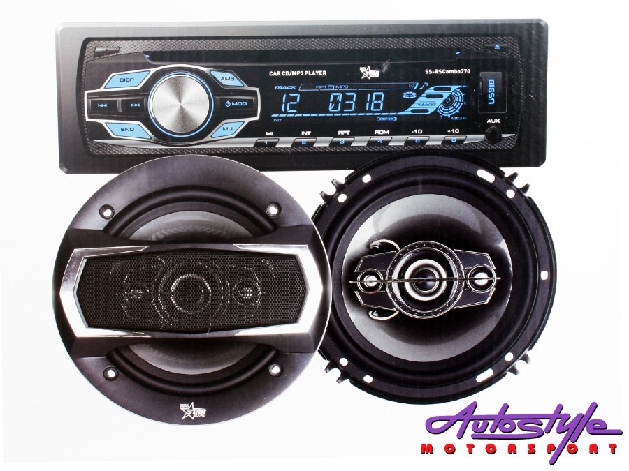 "Starsound Mp3 Radio with 6x9"" Speakers & 6"" Midrange Combo-0"