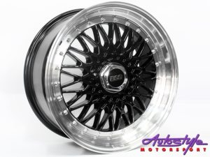 "17"" BSS 4/100 & 4/108 Black Alloy wheels-0"