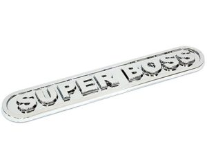 Super Boss Chrome Sticker Badge-0