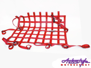 Sparco Rear Racing Rollcage Net (red)-0