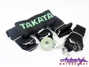 Takata 4point seatbelt Harness (green)-0