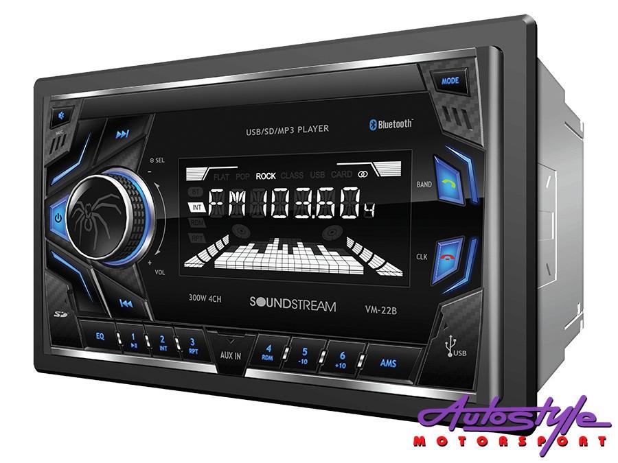 Soundstream VM-22B Double Din Media Player w/bluetooth-0