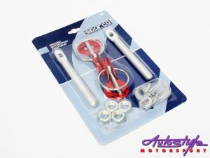 Sparco Bonnet Hood Pin Kit (red)-0