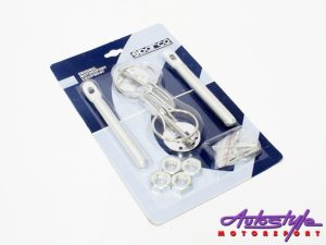Sparco Bonnet Hood Pin Kit (silver)-0