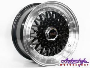 """15"""" BSS 5/100 & 5/114 Black Alloy Wheels-0"""