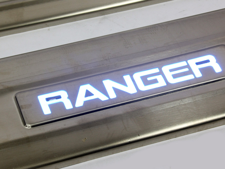 Ford Ranger 4pc Door Sill Step Plates (with LED)
