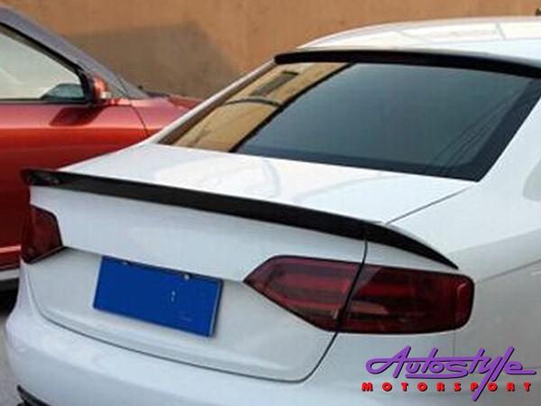 Audi A4 B8 3piece Bootspoiler Fiber glass
