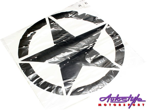 Vinyl door sticker for Jeep (star shape)-0
