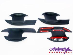2012 Ford Ranger Matt Black Door Handle Bowls (set)-0