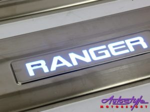 Ford Ranger 4pc Door Sill Step Plates (with LED)-0
