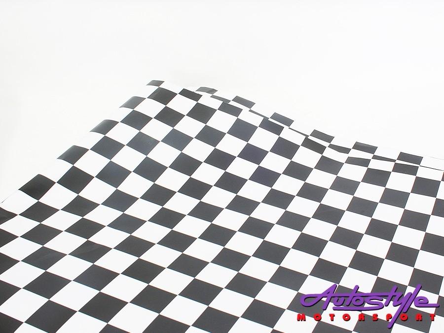 Racing Checkered Design Vinyl Sticker (1.5 x 1m)