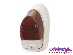 VW Classic Beetle 68-74 Red/White Tailight (RHS)-0
