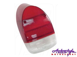 VW Classic Beetle 68-74 Red/White Tailight (each)-0