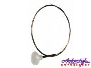 VW Classic Ghia 56-74 Engine Release Cable (white)-0