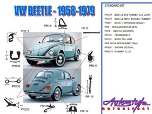 Replacement Rubber Kit for Vw Classic Beetle (popup model)-0