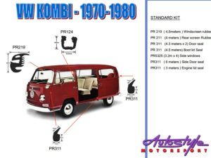 Replacement Rubber Kit for VW Kombi 70-80 models-0