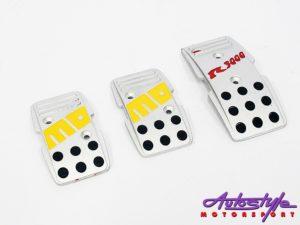 Momo Satin silver alluminium racing pedals-0