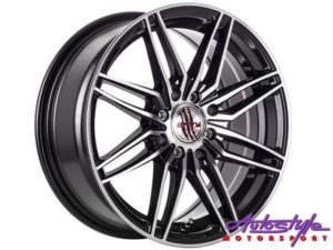 "15"" A-Line Coral 4/100 & 4/114 BKMF Alloy Wheels-0"