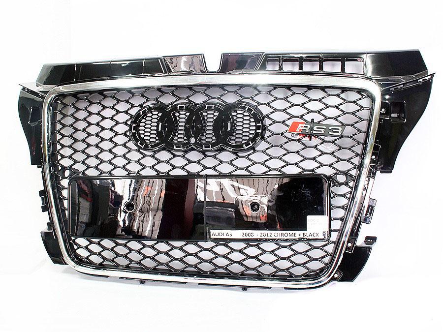 Audi A3 2008+ RS Chrome/Black Mesh Grille