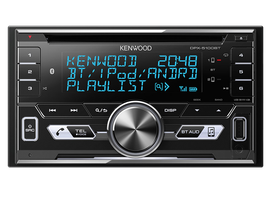 Kenwood DPX5100BT Double Din CD with Bluetooth