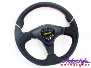 Momo 5150 Black with Red Stitching Sport Steering Wheel-0