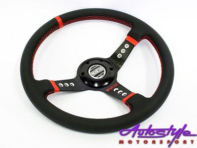 Sparco Black & Red Stitch 5128 Sport Steering Wheel-0