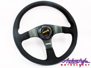 Momo 5161 Full Black Sport Steering Wheel-0