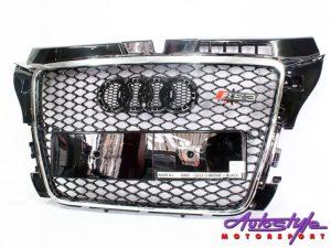 Audi A3 2008+ RS Chrome/Black Mesh Grille-0