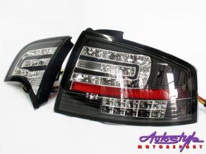 Audi A4 B7 LED Black Tailights-0