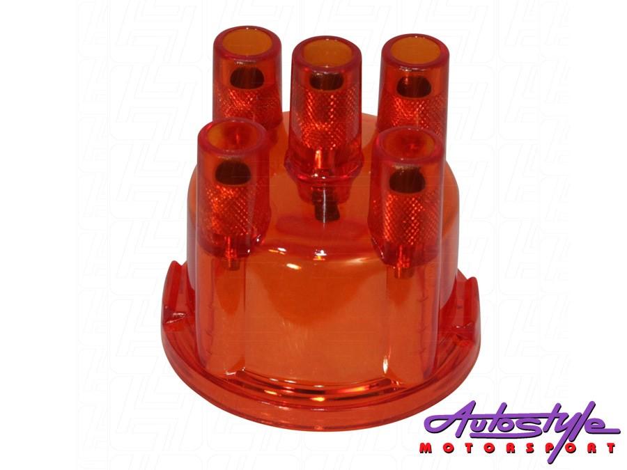 VW Classic Beetle Distributor Cap (red)-0