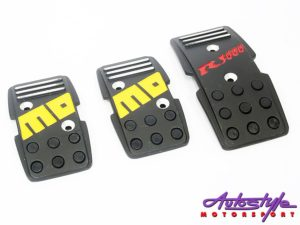 Momo Matt black alluminium racing pedals-0