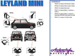 Replacement Rubber Kit for Leyland Mini 59-84-0