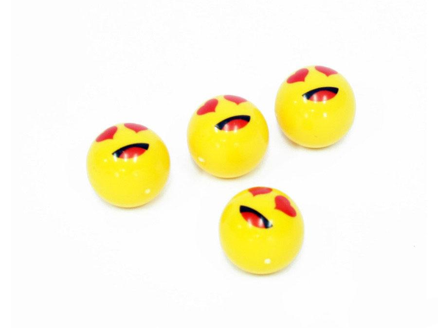 Emoji Design Novelty Wheel Valve Caps
