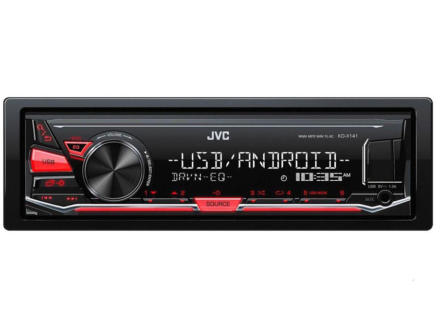JVC KD-X141 Digital Media Receiver with USB/Aux-0