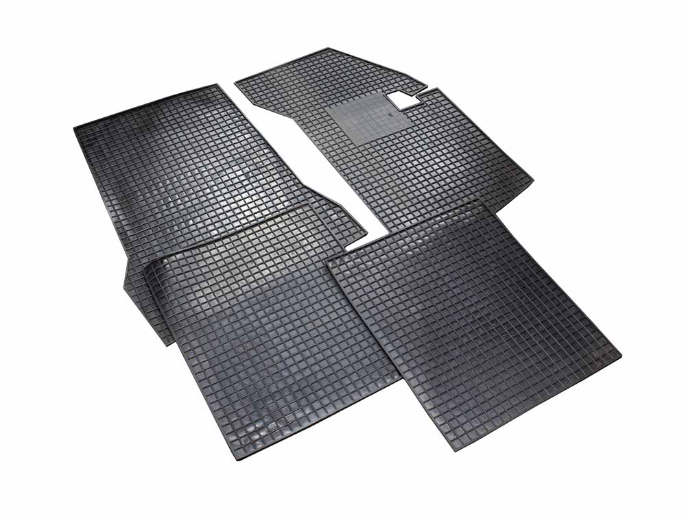 VW Golf Mk1 Black Rubber Car Mats (4pc set)
