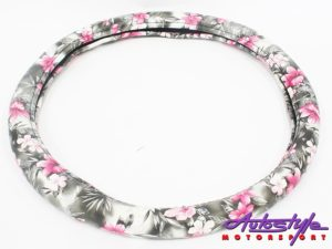 NR Flower Design steering Wheel Cover-0