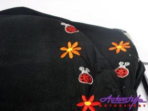 NR Racing Ladybug Black & White Seat Covers-0