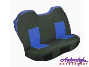 Stingray Blue/Black Explorer 2 Front Canvas Seat Covers-0