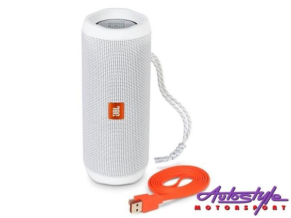 JBL FLIP 4 White Portable Waterproof Bluetooth Speaker