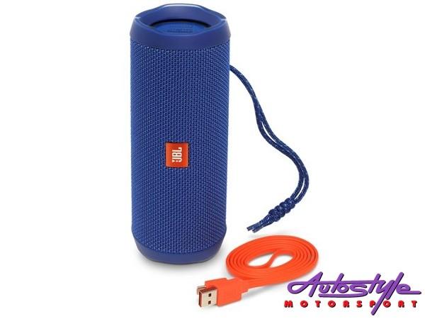 JBL FLIP 4 Blue Portable Waterproof Bluetooth Speaker
