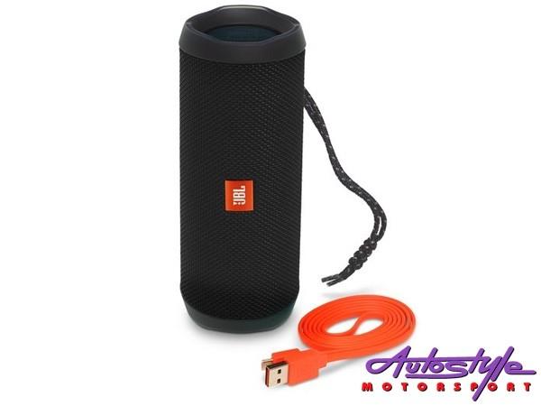 JBL FLIP 4 Black Portable Waterproof Bluetooth Speaker