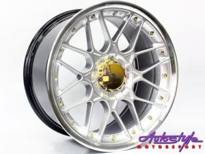 "17"" GR088 5/100 & 5/114 Hypersilver w/Gold Stud Wheels-0"